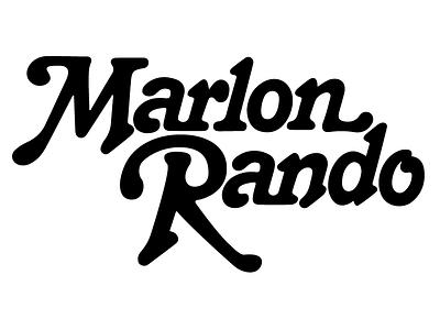 Marlon Rando lettering