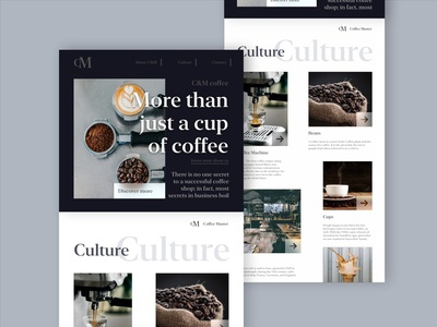 Coffee Master Landing page