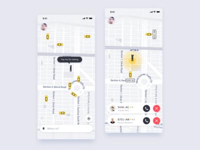 Taxi UI app