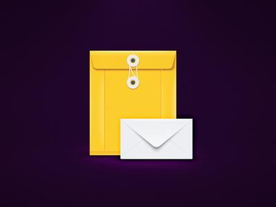 Envelopes illustration icons