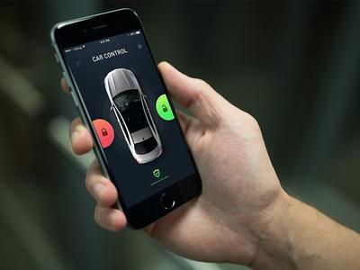 Car Control App Basic unlock lock iphone mercedes-benz mercedes ux ui app control car