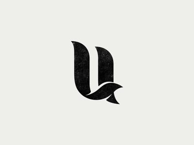Branding U typography u monogram brandmark mark logo ligature letter icon font custom type branding