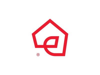 Brandmark ehome home identity logo brandmark