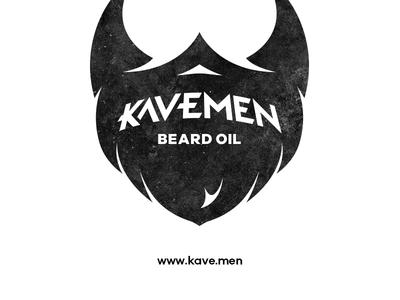 Kavemen Beard Oil cave men oil beard logotype typeface icon identity branding logo
