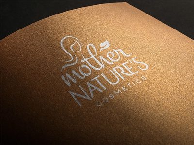 WIP Mother Nature's Cosmetics sri lanka essential oil leaf women mother nature typography logotype typeface logo cosmetics branding
