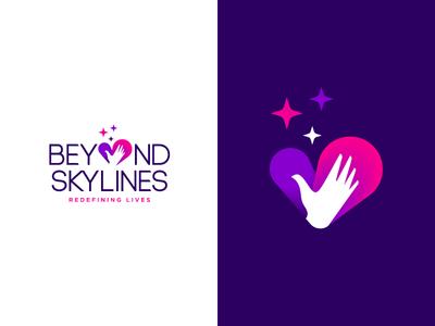 Beyond Skylines Logo hand sri lanka starts charity ngo hope logo brandmark