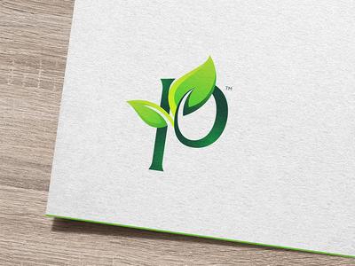 Logo Mark for an Organic Agri Exports lka nature letter p leaf green agri organic monogram logo brand identity brandmark branding