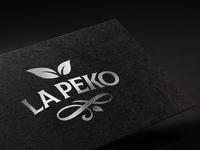 La Peko - The Finest Ceylon Tea leaves black sri lanka ceylon pekoe tea monogram logo brand identity brandmark branding