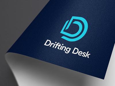 Logomark for Drifting Desk design desk letter d logo mark monogram logo brand identity brandmark branding