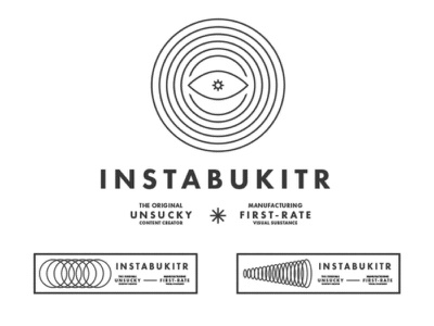 Instabukitr Identity typography type futura creator content telepathy waves icon eye