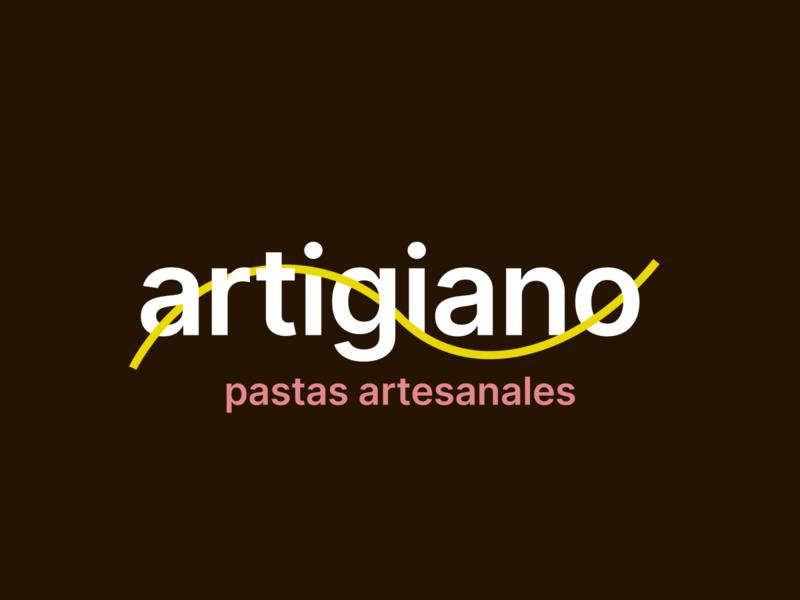 Artigiano / Pastas adobe illustrator flat branding design logo