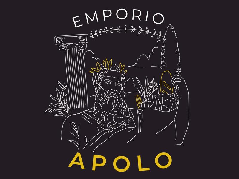 Apolo Emporium food emporium bread design illustration logo adobe branding
