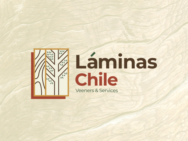 Láminas Chile / Veeners & Services nature logo wood illustrator branding adobe flat logo