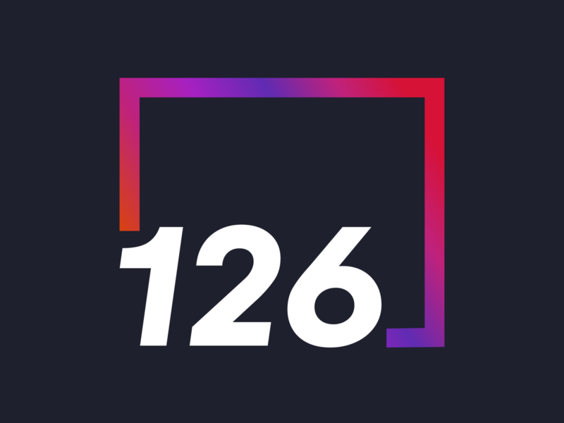 126 Digital Agency agency logo gradient logo design illustrator logo adobe branding