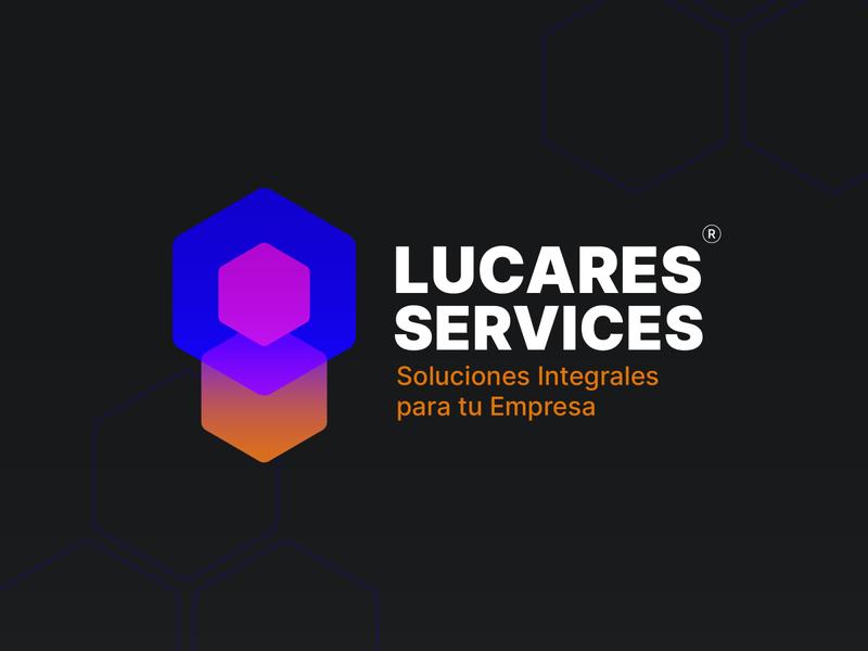 Lucares Services vector design gradient logo adobe illustrator branding logo design gradient logo
