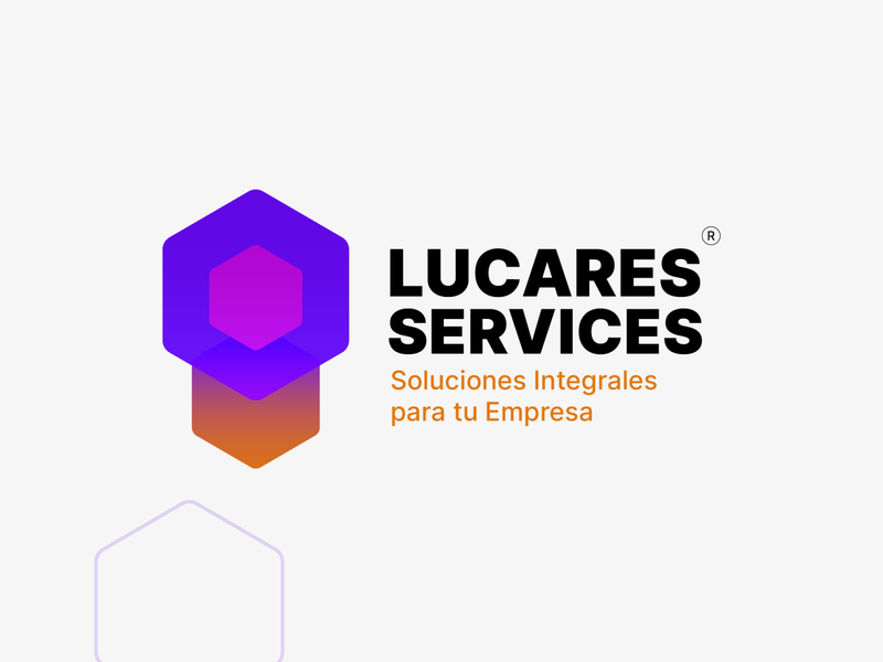 Lucares Services gradient vector illustration gradient logo design illustrator logo branding adobe