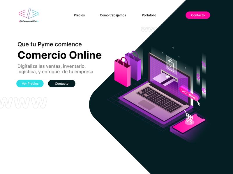 Homepage / Tu Comercio Web design figmadesign figma menu home website design webdesign website web