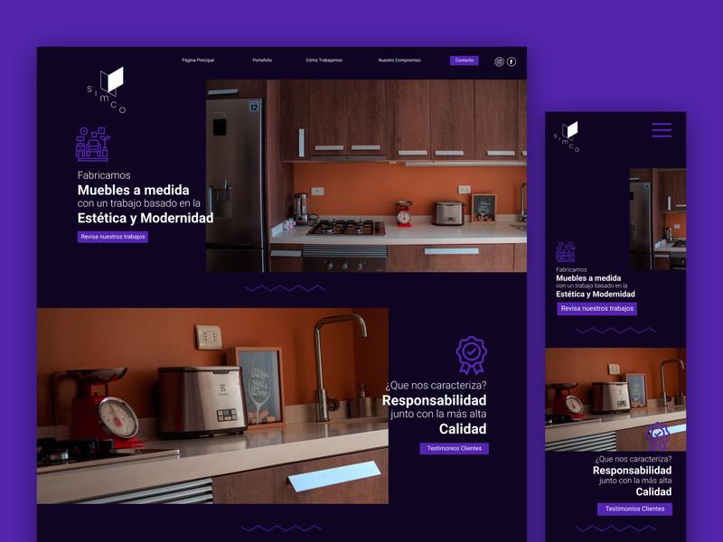 Simco / Kitchen WebPage / Homepage homepage webdesign web design website web vector figma ux ui adobe