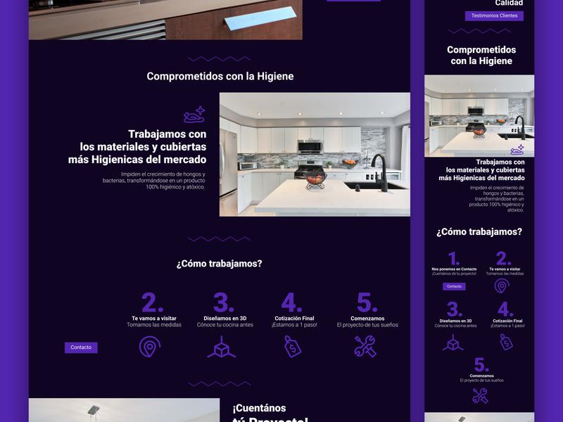 Simco / Kitchen WebPage / figmadesign figma webdesign web design website web branding illustrator adobe