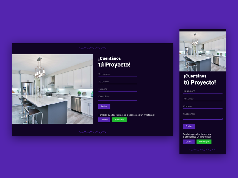 Contact form / Kitchen Webpage figmadesign figma dark contact form contact web design website web