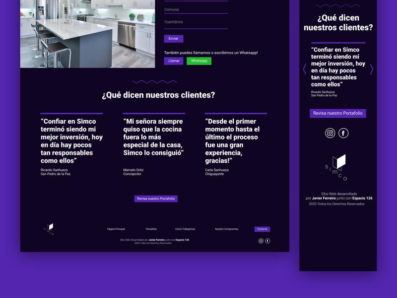 Testimonials / Kitchen Webpage kitchen uiux ui ux  ui figmadesign figma web design webdesign website web