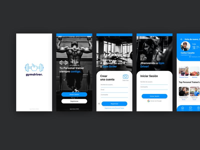 A gym sport app / Index / menus / ux vector app design sport gym figmadesign figma design ui design mobile app ui ux