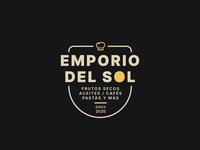 Emporio del Sol Logo food emporium vector design branding illustrator adobe logo