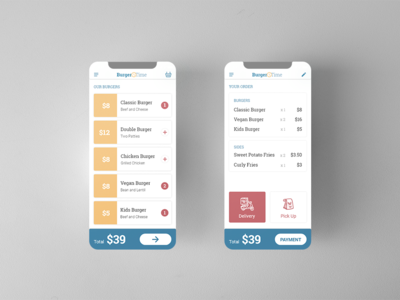 Daily UI 043 - Food Menu