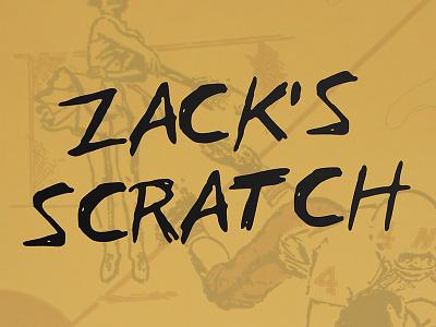 Zack Scratch script handwriting scribble typeface type font