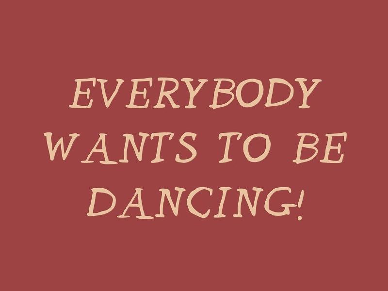 Let's Go Dancing!  handwriting serif scribble typeface type font