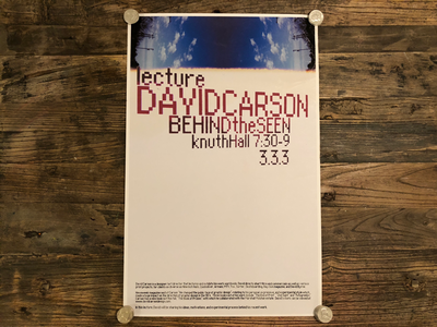 David Carson Poster poster lecture type grunge