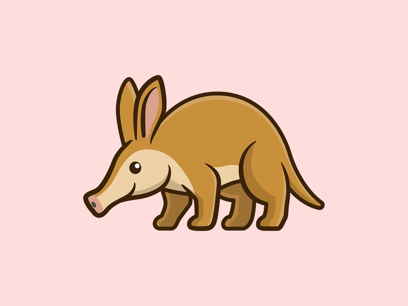 Aardvark vector aardvark cute animal animal cute artwork character cartoon adorable illustration branding