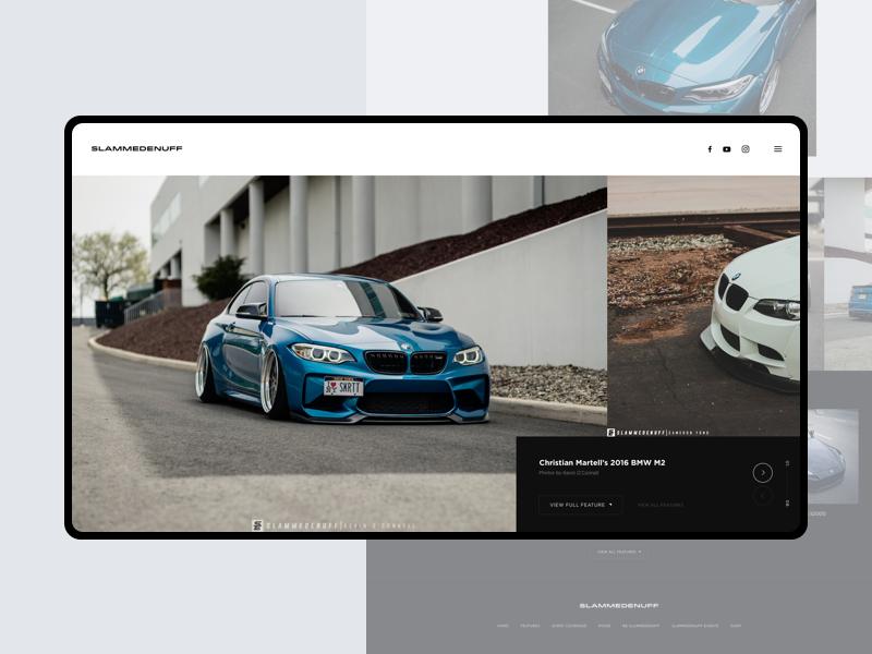 Slammedenuff figma webdesign website m4 m3 m2 bmw event vehicle car slammedenuff
