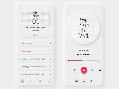 Neumorphism exploration musicapp music softui neumorphism user experience design app design userinterface mobile app
