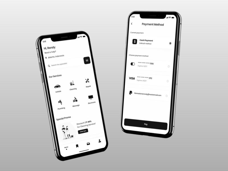 Service App rent app service app design app design user experience userinterface mobile app