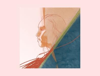 Contemplation mixedmedia sketching procreate woman illustration digital illustration digital art