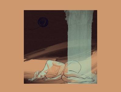 Cradled by the Universe mixedmedia procreate sketch woman digital illustration illustration digital art