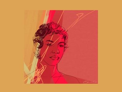 Inspiration procreate portrait woman illustration digital illustration digital art