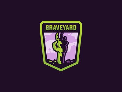 Graveyard Mascot Logo zombies zombie graveyard mascot logo mascot logo minimal design vector illustrator illustration flat