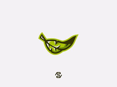 Leaf green leafs leaf mascot mascot logo logo minimal design vector illustrator illustration flat
