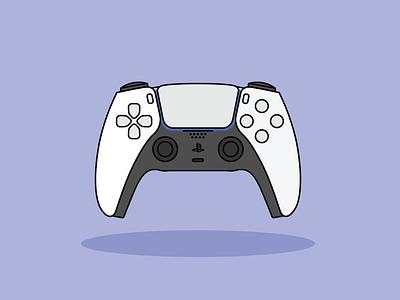DualSense ps5 dualsense sony station play joystick minimal design vector illustrator illustration flat