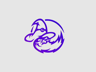 Wizard Mascot Logo gaming purple logo wizards witcher blue purple wizard mascotlogo mascot mascot logo logo minimal design vector illustrator illustration flat