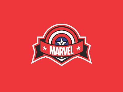 Marvel Mascot Logo red logo red marvel studios marvel mascotlogo mascot mascot logo logo design vector illustrator illustration flat