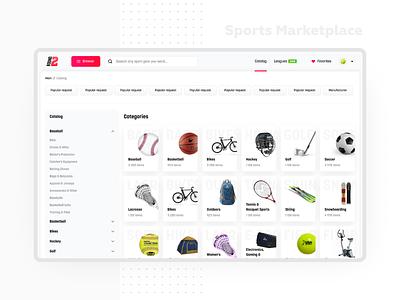 Round 2 v2 0 Catalog 2x responsive filters filterring ecommerce sport marketplace redesign website design web tiles minimal listing interface design dashboard flat ui light