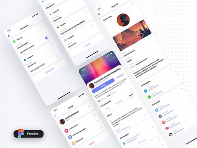 Commun Profile Mobile (Freebie) product blockchain social network settings profile ios tiles minimal listing interface material dashboard design flat ui light
