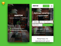 Rentor mobile view