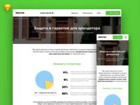 Apartments website guaranties landing page