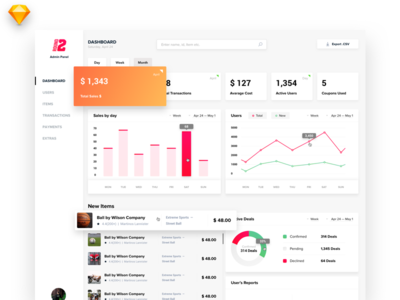 Sports Marketplace App Dashboard
