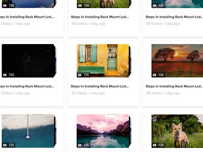 VideoPlatform • Playlist hover animation video hover animation tiles listing design ios dashboard flat material ui light