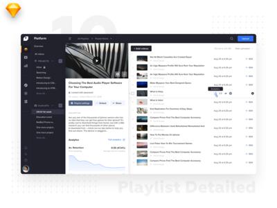 VideoPlatform • Playlist details